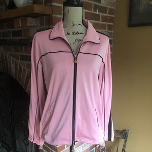Oleg Cassini Sport pink/black workout jacket